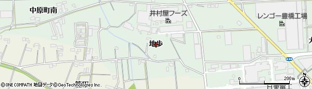 愛知県豊橋市中原町(地歩)周辺の地図