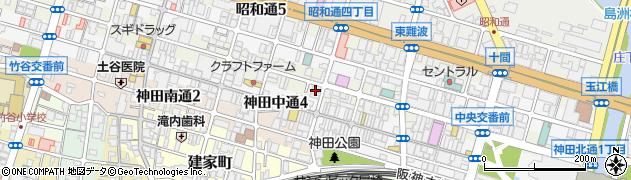 兵庫県尼崎市神田北通4丁目周辺の地図
