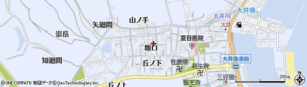 愛知県南知多町(知多郡)大井(堰口)周辺の地図