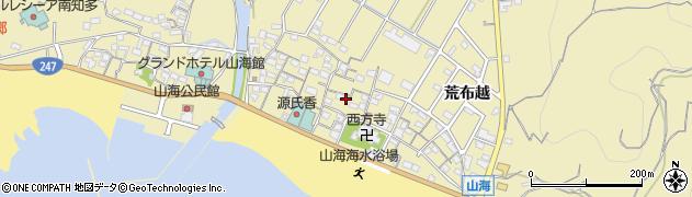 愛知県南知多町(知多郡)山海(屋敷)周辺の地図
