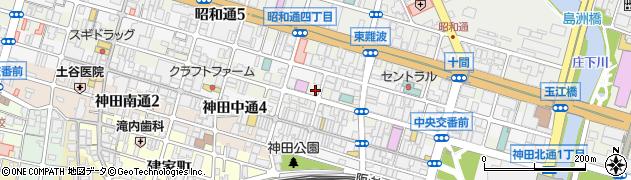 兵庫県尼崎市神田北通3丁目周辺の地図
