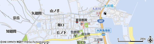 愛知県南知多町(知多郡)大井(江崎)周辺の地図