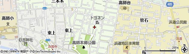 愛知県豊橋市三本木町(新東上)周辺の地図