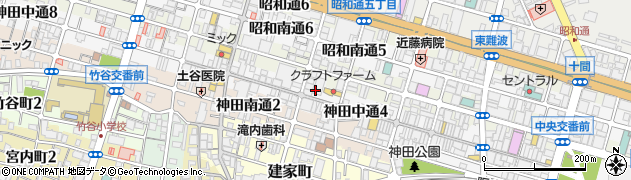 兵庫県尼崎市神田中通4丁目周辺の地図
