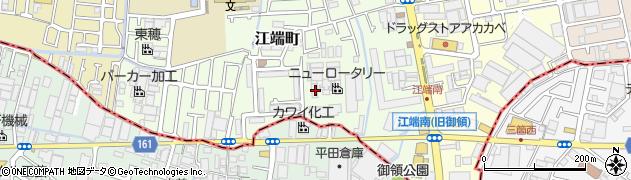 大阪府門真市江端町周辺の地図