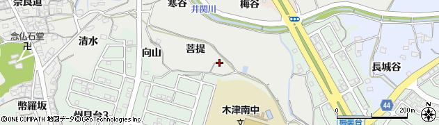 京都府木津川市市坂(菩提)周辺の地図