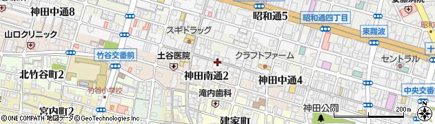 兵庫県尼崎市神田中通5丁目周辺の地図