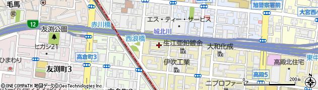 府警旭宿舎周辺の地図