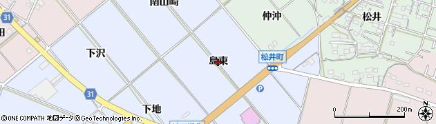 愛知県豊橋市磯辺下地町(島東)周辺の地図