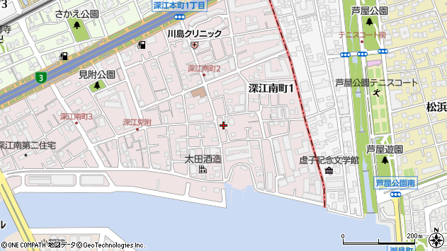 〒658-0022 兵庫県神戸市東灘区深江南町の地図