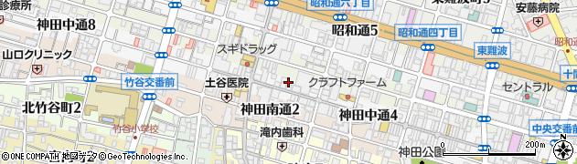 兵庫県尼崎市神田中通周辺の地図