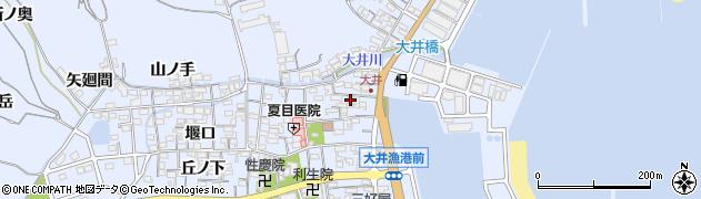 愛知県南知多町(知多郡)大井(北側)周辺の地図
