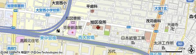大阪府大阪市旭区周辺の地図