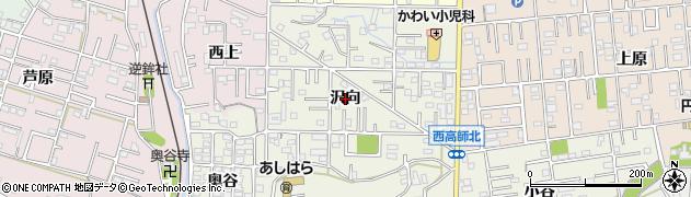 愛知県豊橋市西高師町(沢向)周辺の地図