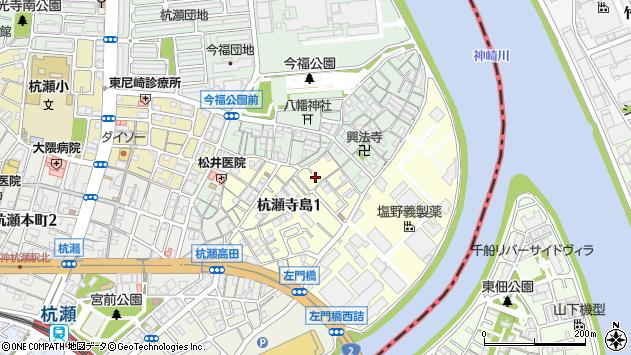 〒660-0813 兵庫県尼崎市杭瀬寺島の地図