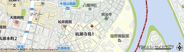 兵庫県尼崎市杭瀬寺島1丁目周辺の地図