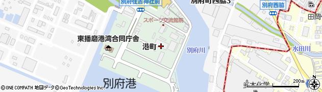兵庫県加古川市別府町(港町)周辺の地図