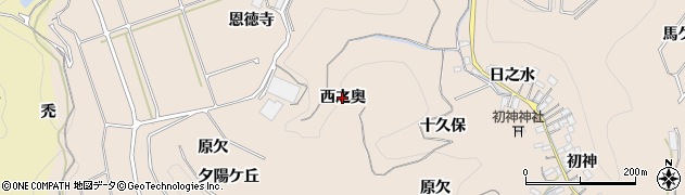 愛知県南知多町(知多郡)豊浜(西之奥)周辺の地図