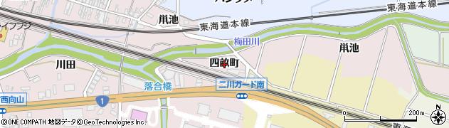 愛知県豊橋市二川町(四畝町)周辺の地図