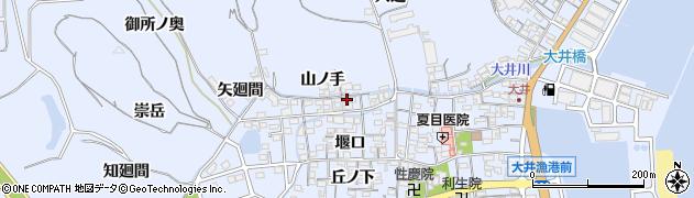 愛知県南知多町(知多郡)大井(山ノ手)周辺の地図
