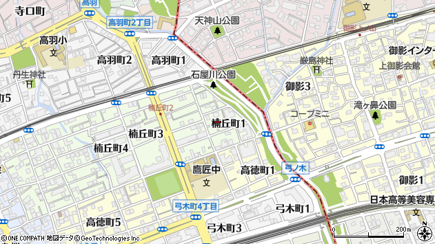 〒657-0024 兵庫県神戸市灘区楠丘町の地図