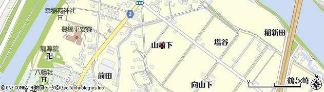 愛知県豊橋市船渡町(山崎下)周辺の地図