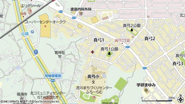 〒630-0122 奈良県生駒市真弓の地図