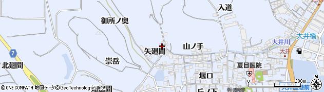 愛知県南知多町(知多郡)大井(矢廻間)周辺の地図