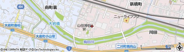 愛知県豊橋市二川町(南裏)周辺の地図
