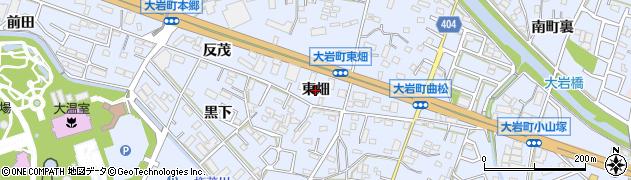 愛知県豊橋市大岩町(東畑)周辺の地図