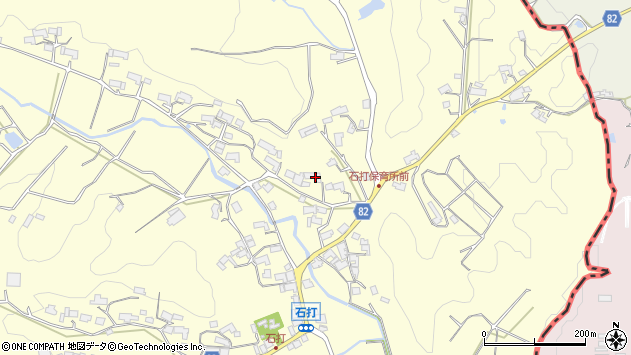 〒630-2301 奈良県奈良市月ヶ瀬石打の地図