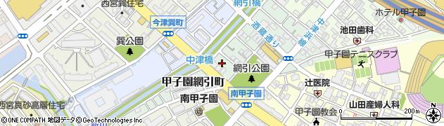 兵庫県西宮市甲子園網引町周辺の地図