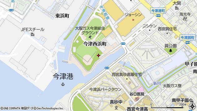 〒663-8225 兵庫県西宮市今津西浜町の地図