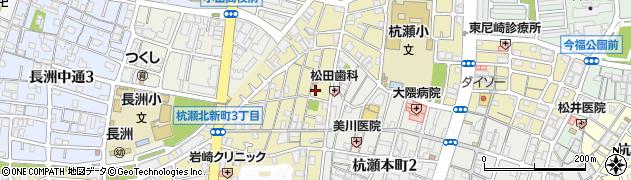 兵庫県尼崎市杭瀬北新町3丁目周辺の地図