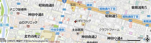 兵庫県尼崎市神田北通6丁目周辺の地図
