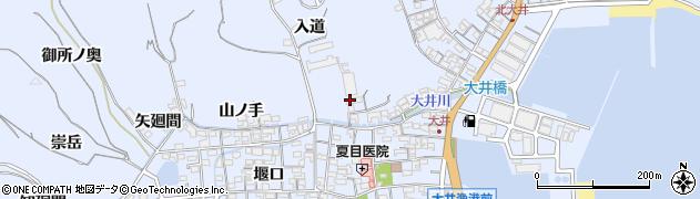 愛知県南知多町(知多郡)大井(入道)周辺の地図
