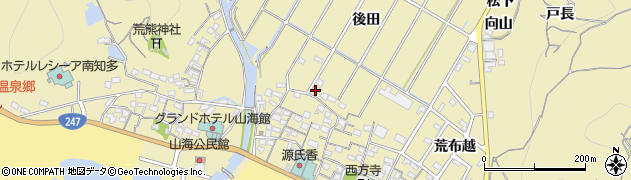 愛知県南知多町(知多郡)山海(後田)周辺の地図