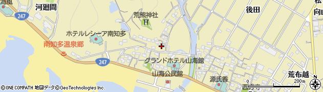 愛知県南知多町(知多郡)山海(橋詰)周辺の地図