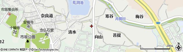 京都府木津川市市坂(向山)周辺の地図