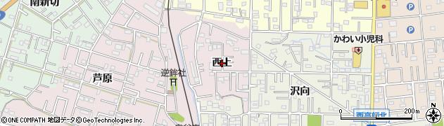 愛知県豊橋市芦原町(西上)周辺の地図