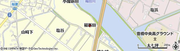 愛知県豊橋市船渡町(稲新田)周辺の地図