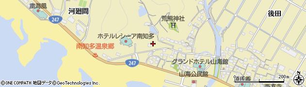 愛知県南知多町(知多郡)山海(高座)周辺の地図