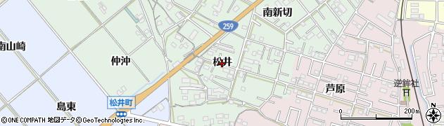 愛知県豊橋市松井町(松井)周辺の地図