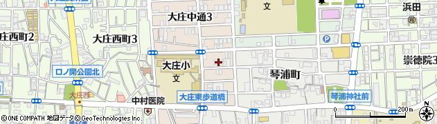 兵庫県尼崎市大庄中通4丁目周辺の地図