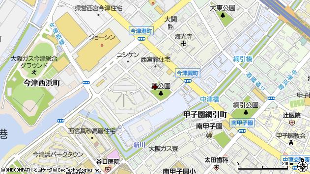 〒663-8223 兵庫県西宮市今津巽町の地図
