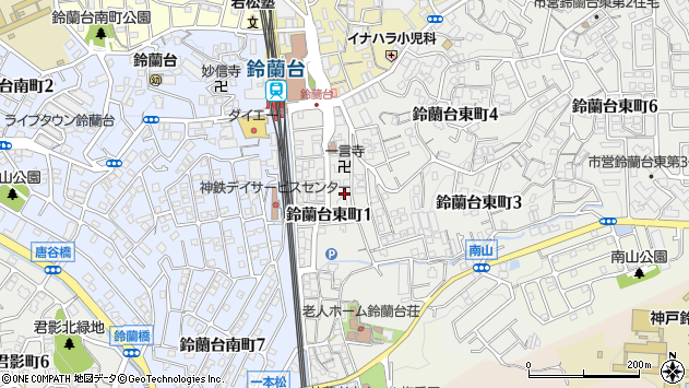 〒651-1112 兵庫県神戸市北区鈴蘭台東町の地図