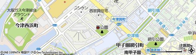 兵庫県西宮市今津巽町周辺の地図