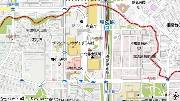 〒631-0805 奈良県奈良市右京の地図