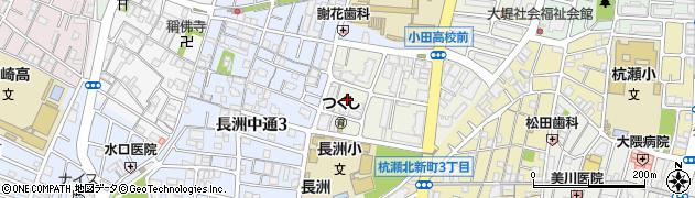 兵庫県尼崎市長洲東通3丁目周辺の地図