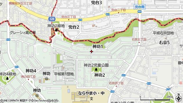 〒631-0804 奈良県奈良市神功の地図
